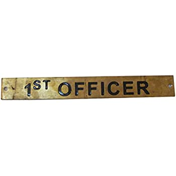 12 x 1 Inches CAPTAIN`S PRIVATE – Marine BRASS Door Sign Boat//Nautical 30