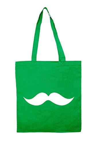 Jutebeutel Moustache Baumwolltasche Green ulMfWygcT