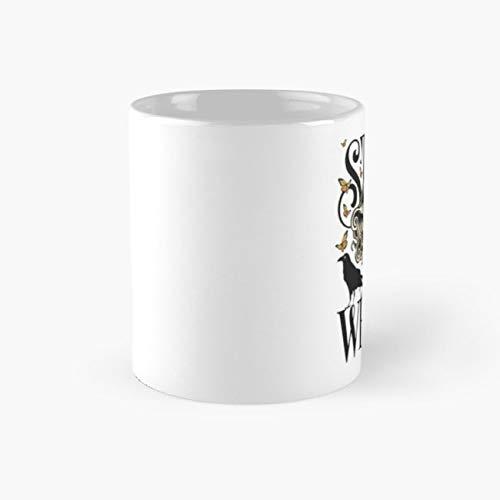gocontigo - Rose and The Ravens {Stay Weird} Colour Version Mug 11 Oz White Ceramic -