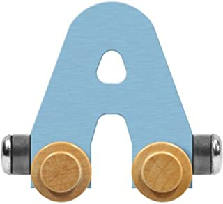 product image for Maple Landmark NameTrain Pastel Letter Car A - Made in USA (Blue)