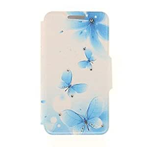 Mini - Kinston Dream Butterfly Diamond Paste Pattern PU Leather Full Body Case with Stand for iPhone 6 Plus