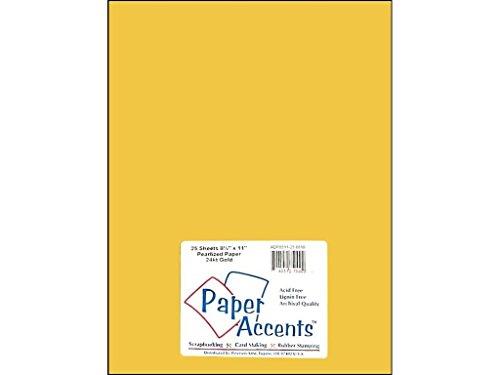 Accent Design ADP8511-25.8810 - Cartulina perlada (8,5 x 28 cm, 24 quilates), color dorado