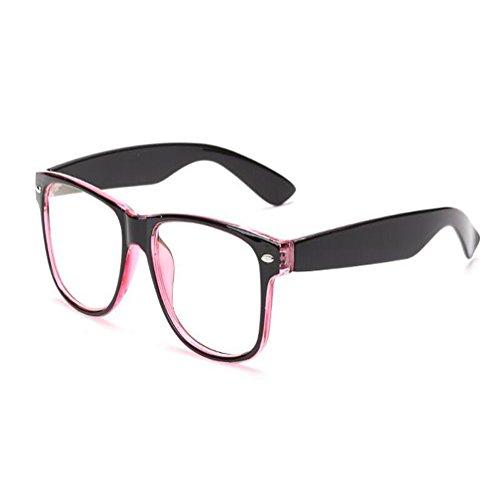 azul Negro Computadora Mujer Anti los Hombre Filtro Eyewear Vintage ojos Anti Xinvision Gafas fatiga Morado Previniendo Lente Moda luz UV de Claro qRgxEPS0wv