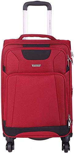 Times Bags 22TB4WS 20 Inch Nylon Fabric Red Cabin Luggage suitcases  amp; Trolley Bags