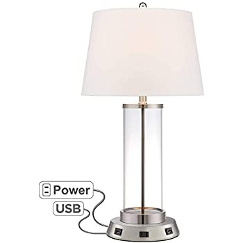 Modern Table Lamp With Usb And Ac Power Outlet Workstation