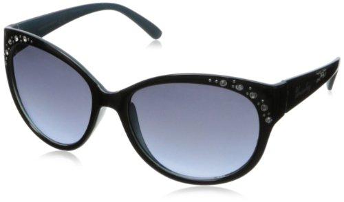 union-bay-womens-u237-cat-eye-sunglassesblack-blue56-mm
