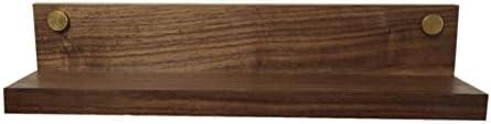 ZEMIN コートラック ウォールコートラック帽子ハンガーホルダーマグネットソリッドウッド、ブラウン、40x6x6CM