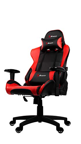 Arozzi VERONA-V2-RD Advanced Racing Style Gaming Chair with High Backrest, Recliner, Swivel, Tilt, Rocker and Seat Height Adjustment, Lumbar and Headrest Pillows Included, Red Arozzi North America