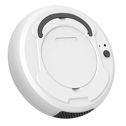 Siviki 3-in-1 Mop Robot Vacuum Mop Cleaner, Automatic Smart Robot Rechargeable Vacuum Cleaner Dust Box 400ML, Daily Schedule Cleaning, Ideal for Pet Hair, Hard Floor and Low Pile Carpet (White)