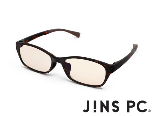 【JINS PC ウエリントン】PC(ディスプレイ)専用メガネ(度なし) (BROWN DEMI)