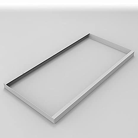 Montaje Marco 120 x 60 cm, para LED Panel de Techo y Pared Marco embellecedor para montaje aluminio plata de Longlife LED GmbH by HK: Amazon.es: Iluminación
