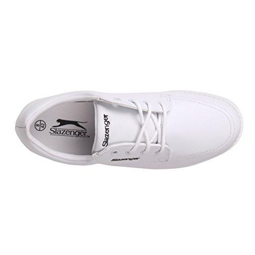 Slazenger Herren Bowling Schuhe Schnuerschuhe Freizeit Sneaker Turnschuhe Weiß