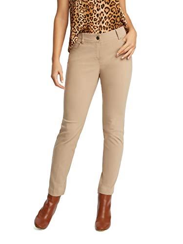 89th + Madison Five Pocket Stretch Straight Leg Pants (12, Khaki)