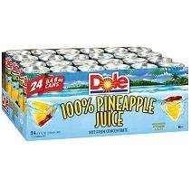 Dole 100% Pineapple Juice 84oz 24 Count by dole pine apple juice