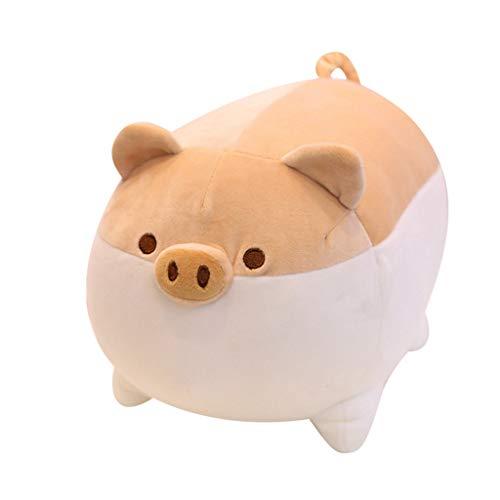 Trigle 50CM Cute Pig Plush Toy Anime Pig Plush Stuffed Sotf Pillow Doll Cartoon Pig Cute Pig Soft Toy (Brown) -