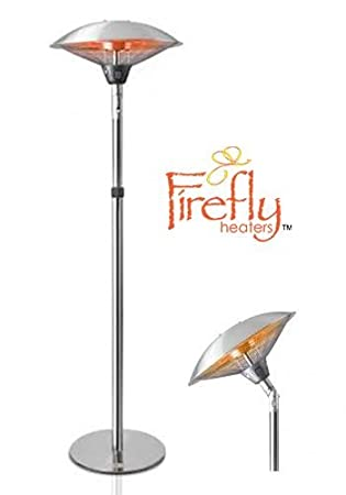 electric patio heater. Firefly 2.1kW Tilting Freestanding Electric Outdoor Patio Heater With Gold Tube Heating Element