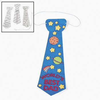 father's day gift from kids coloring tie