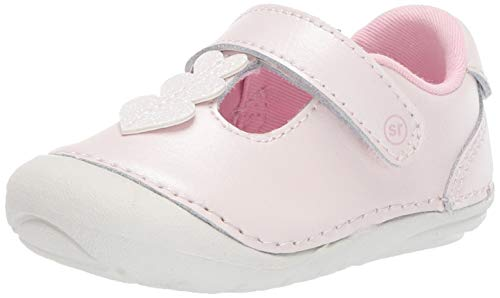 Stride Rite Soft Motion Lucia Girl's Casual T-Strap Sneaker, Pink, 4 W US Big Kid