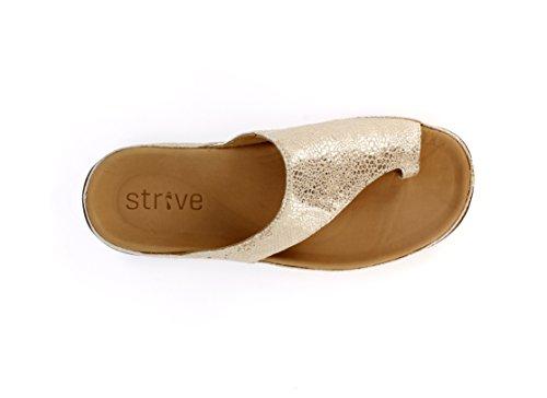 Strive Footwear Capri Stylish Orthotic Sandal Oxford Tan - Snake Skin fake cheap price l5uxUM