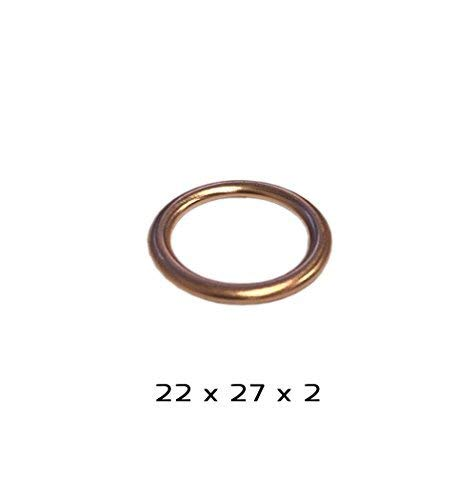 22 x 27 x 2 mm X10 Joint de bouchon de vidange