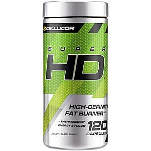 Cellucor SuperHD Thermogenic Fat Burners for Men & Women, Weight Loss Fat Burner Supplement with Nootropic Focus + Energy, G3, Capsules (Best Fat Burner For Men Over 40)