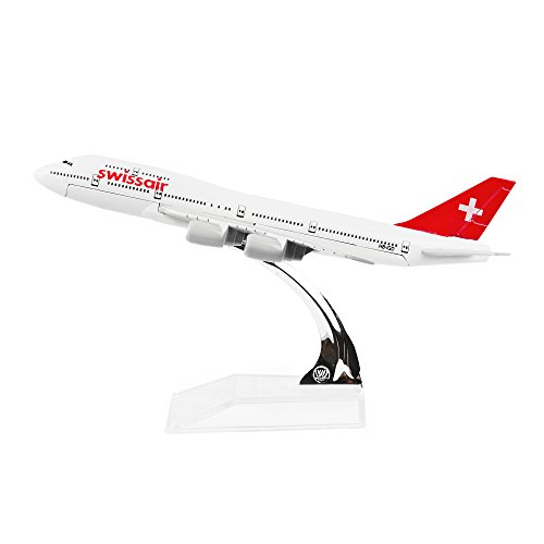 (Swiss Air Boeing747 Airplane Models Metal Die-cast 1:400)