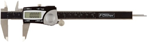Fowler Full Warranty Stainless Steel Frame Absolute Economy Digital Caliper, 54-100-000-2, 0-6'' Measuring Range, 0.117'' Jaw Thickness, 1.56'' External Jaw Length, 0.635'' Internal Jaw Length by Fowler