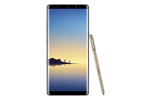 "Samsung Galaxy Note 8 SM-N950F/DS Factory Unlocked Phone - 6.3"" Screen - 64GB - International Version - No Warranty (Maple Gold)"
