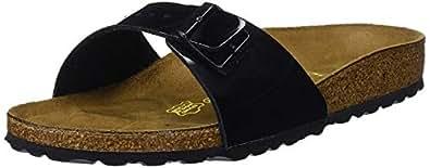 Birkenstock Women's Madrid Sandals, Black, 37 EU
