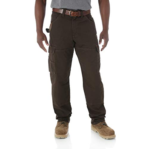 RIGGS WORKWEAR by Wrangler Men's Ranger Pant,Dark Brown,34x30 ()