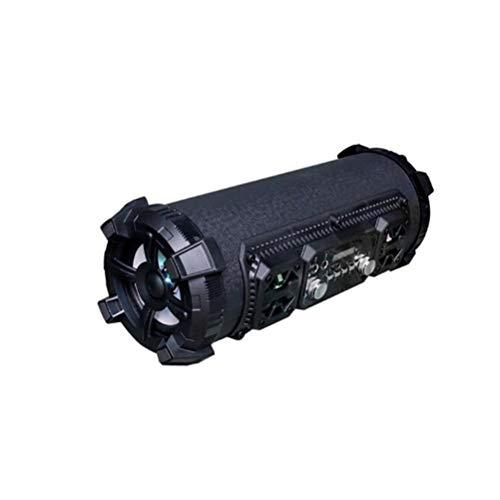 RENJUN Wireless Bluetooth Audio Portable Outdoor Speaker Cylindrical Black Portable Card Speaker