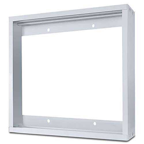 LEDMO 2X2FT Ceiling Frame Kit - Aluminium Surface Mounting Bracket Kit for LED Panel Light, Drop Ceiling Light, Edge-Lit Light (White Drywall Flange -