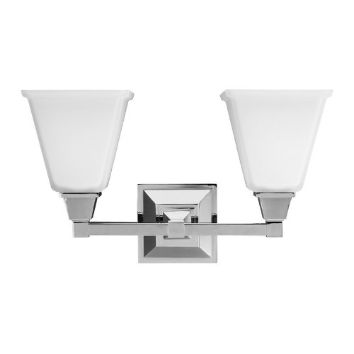 Sea Gull Lighting 4450402-05 Denhelm Glass Wall Vanity 2 150W, Chrome, Two-Light, Chrome Finish by Sea Gull Lighting
