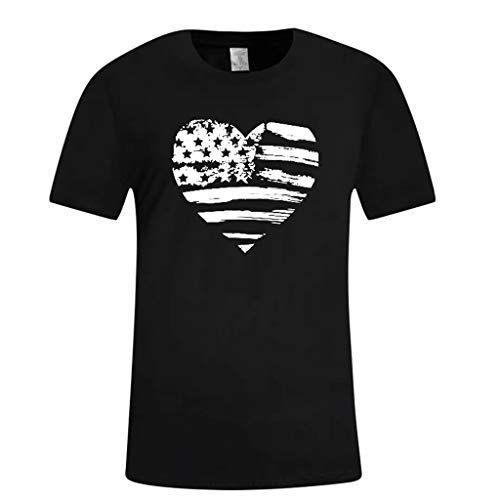 Respctful✿Men Graphic Funny Tees Casual Graphic 3D Novelty Tshirts American Flag Printed Crewneck