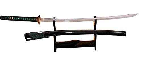 Spring Steel Katana (Lyuesword Japanese Handmade Samurai Katana Sword Full Tang 9260 Spring Steel Blade Katana Sword Sharp Real)