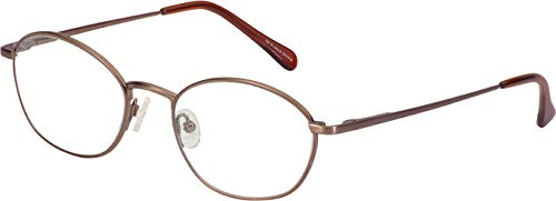 Hilco SG405T Safety Glasses Full Rimmed Metallic Frames in Modified Oval Shape Offered in Brown/Satin color from Eyeweb - Eyeglasses Brown Metallic Frame