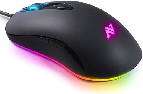 ABKONCORE A530 Gaming Mouse [4000DPI], Wired Computer Mouse, RGB Backlit Mice with 8 Programmable Buttons, 80g Lightweight Design, 16M Color, 4,000 DPI Adjustable, PC Gaming Mouse for Laptop, PC, Mac