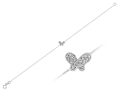 Bracelet Papillon Diamants-Femme- or Blanc 217B0003