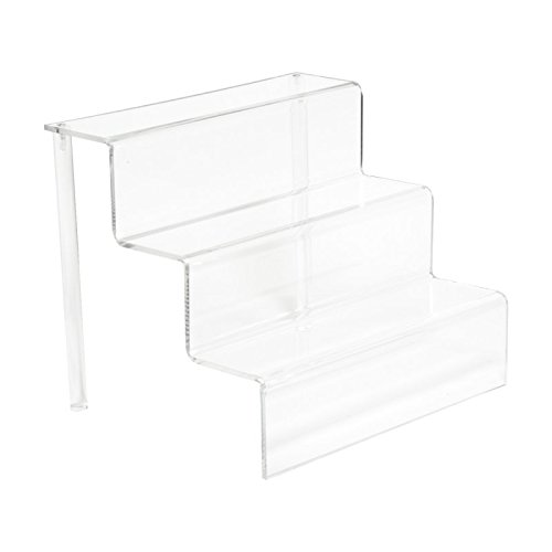 AMKO CTP1253 Riser Set Three-Tier Step Display, Clear Polycarbonate/Acrylic, Polycarbonate, 1/8