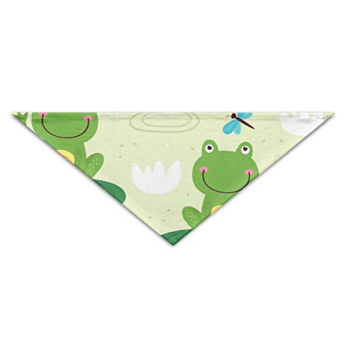 Frog Quilted (Mcdorty Cute Frog Triangle Neckerchief Bibs Scarfs Accessories Pet Cats Baby Puppies The Saliva Dog Towel)