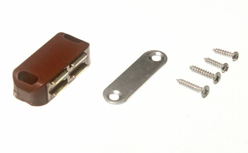 Lot Of 200 Single Magnetic Catch With Plate And Fixing Screws Brown 5Kg Pull