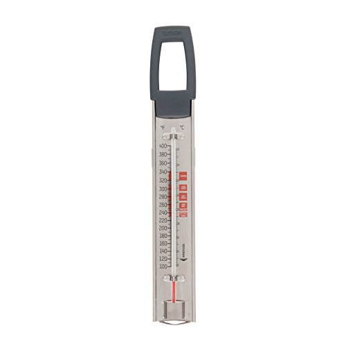 Taylor Precision Products 529 Curved Candy and Deep Fry Thermometer, Stainless Steel