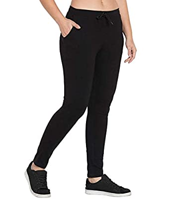American-Elm Comfort Fit Cotton Track Pants for Women