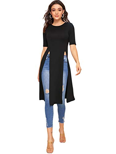 Top 10 long maxi shirt with side slit