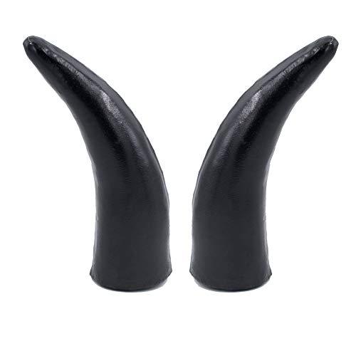 1 Pair Helmet Devil Horns for Snowboarding, Skiing, Biking, Cycling for Kids and Adults Full Face Motorcycle Accessories Black Horn Waterproof Headwear (Helmet not Included)