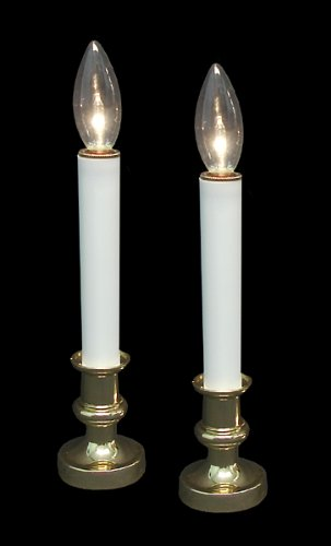 battery operated candle lamps pack of 2 measure 95 - Battery Operated Christmas Candles