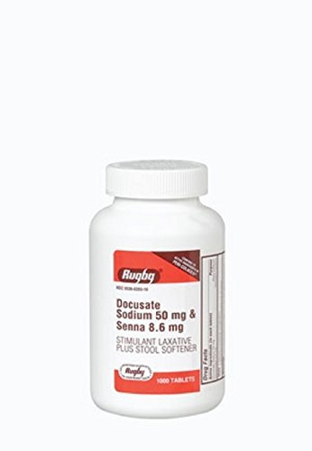 DOCUSATE SOD 50MG/SENNA 8.6MG? DOCUSATE SODIUM-50 MG Burgundy 1000 TABLETS UPC 305360355105 by RUGBY LABORATORIES by RUGBY LABORATORIES