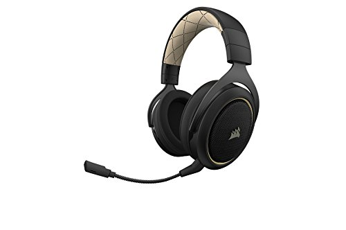31nIolLUT7L - CORSAIR HS70 SE Wireless - 7.1 Surround Sound Gaming Headset - Discord Certified Headphones - Cream