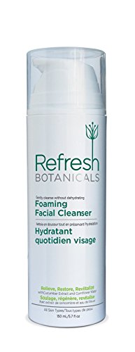 Natural and Organic Foaming Facial Cleanser, Natural Face Wash for all skin types including sensitive skin, Gluten free, No Parabens