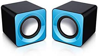 CHAOQIANG FO 2.0USBデスクトップスピーカー、マルチメディアオーディオスピーカー、コンピュータのオーディオ - ブルー (Color : Blue)
